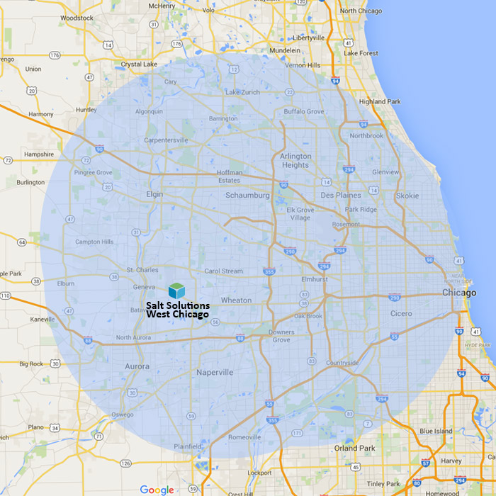 Salt Solutions Chicagoland Delivery Service Area Map